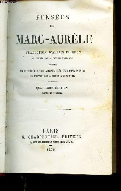 PENSEES DE MARC-AURELE