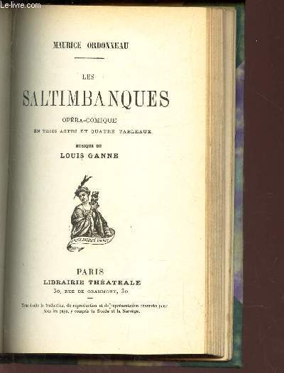 LES SALTIMBANQUES - OPERA-COMIQUE -