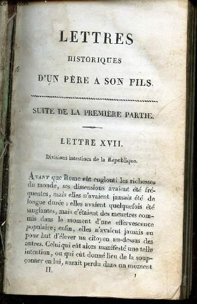 CORRESPONDANCES DE L'HISTOIRE - TOME SECOND / LETTRES HISTORIQUES D'UN PERE A SON FILS - Suite de la premiere partie + SECONDE PARTIE.