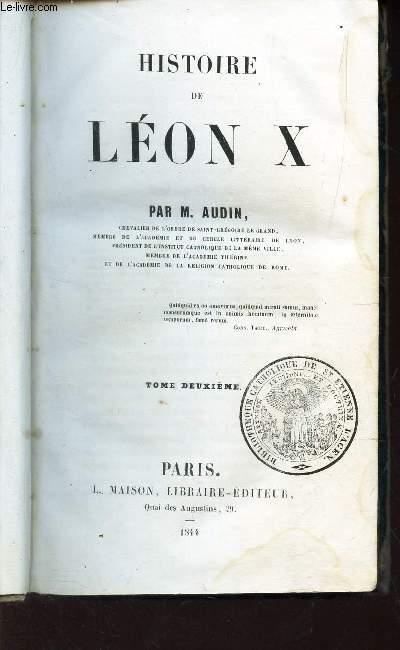 HISTOIRE DE LEON X / TOME DEUXIEME.