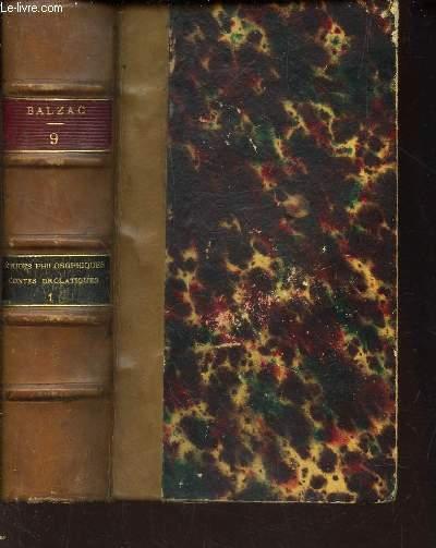 ETUDES PHILOSOPHIQUES - CONTES DROLATIQUES / (volume 9) - tome 1 / LA PEAU DE CHAGRIN / PREMIER DIXAIN.