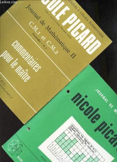 JOURNAL DE MATHEMATIQUE II - EN 2 VOLUMES - LIVRE DE L'ELEVE (fascicule 1 - cours moyen 1)  + LIVRE