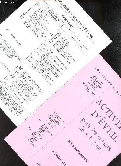ACTIVITES D'EVEIL POUR LES ENFANTS DE 5 A 7 AS - COURS PREPARATOIRE - FICHIER DU MAITRE