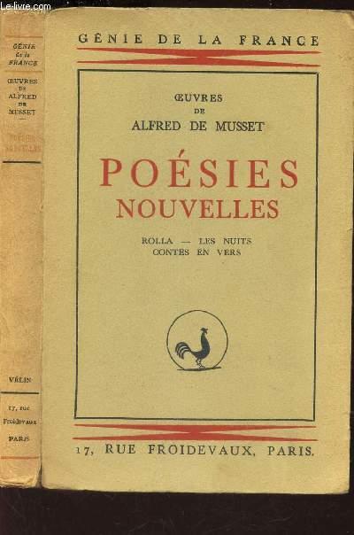 POESIES NOUVELLES - Rolla - Les nuits - Contes en vers / COLLECTION