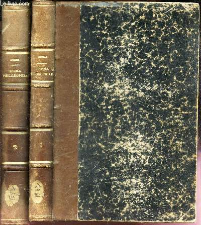 SUMMA PRAELECTIONUM PHILOSOPHIAE SCHOLASTICAE - EN 2 VOLUMES - TOMES PREMIER ET DEUXIEME.