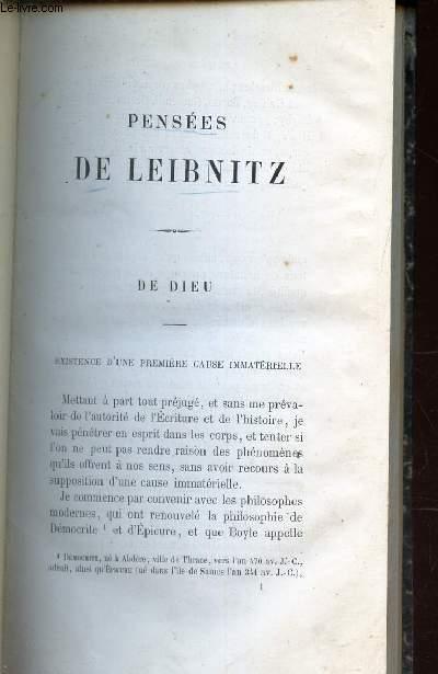 PENSEES DE LEIBNITZ sur la religion, sur la morale, systeme theologique).