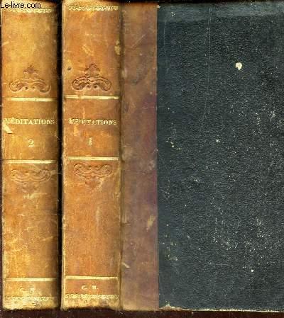 MEDITATIONS - EN 2 VOLUMES : TOMES 1 et 2 / A L'USAGE DU CLERGE ET DES FIDELES - POUR TOUS LES JOURS DE L'ANNEE / 6e EDITION.