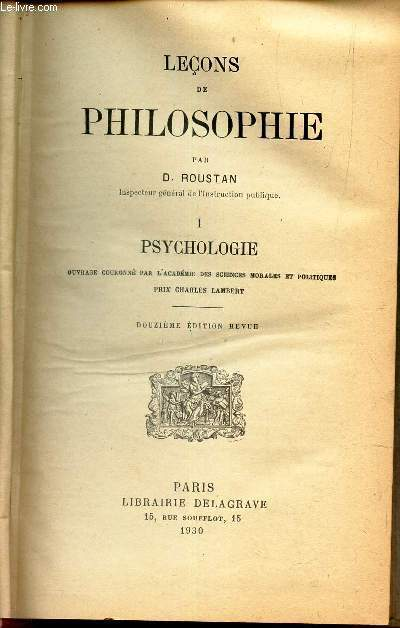 PSYCHOLOGIE :  TOME I / COLLECTION