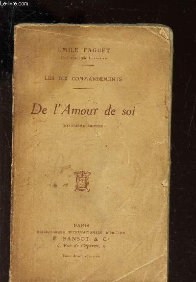DE L'AMOUR DE SOI /