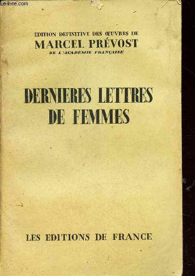 DERNIERES LETTRES DE FEMMES