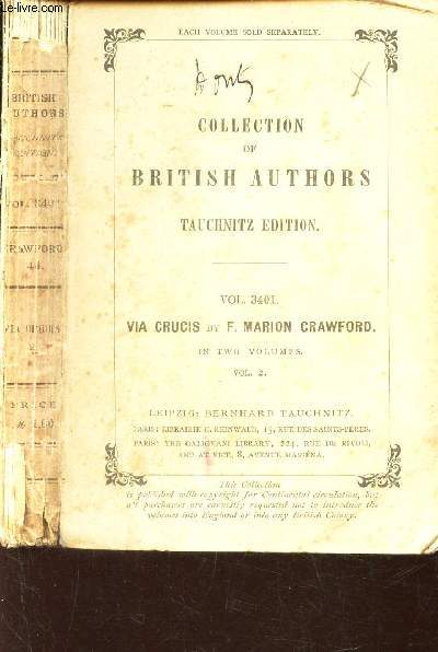 VIA CRUCIS (VOLUME IIe) / VOL. 3401 - COLLECTION OF BRITISH AUTHORS.