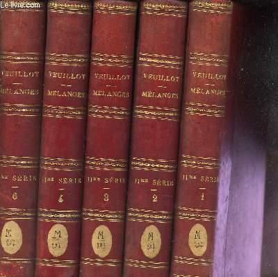 MELANGES RELIGIEUX, HISTORIQUES, POLITIQUES ET LITTERAIRES / EN 5 VOLUMES (TOMES 1 à 6) - MANQUE LE TOME 5 . / 2eme SERIE.