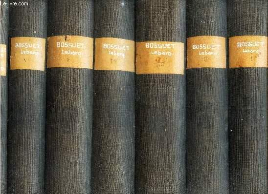 OEUVRES ORATOIRES DE BOSSUET  (1648-1702) - 7 VOLUMES -  (tomes 1 à 6 + la Table anaytique. / EDITIN CRITIQUE COMPLETE PAR L'ABBE J. LEBARQ, Docteur Es-lettres.