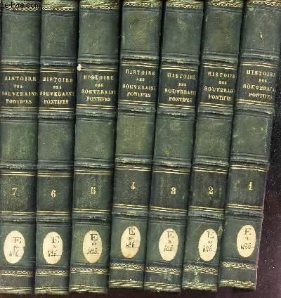 HISTOIRE DES SOUVERAINS PONTIFES ROMAINS / EN 8 VOLUMES (tomes 1 à 8) - COMPLET.