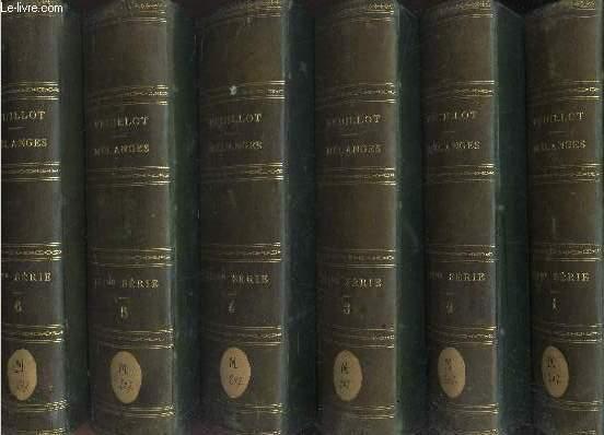 MELANGES RELIGIEUX, HISTORIQUE POLITIQUES ET LITTERAIRES - EN 6 VOLUMES (TOMES 1à 6). De 1861 à 1872.