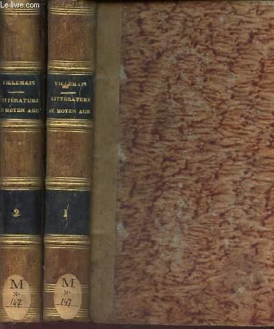 COURS DE LITTERATURE FRANCAISE - EN 2 VOLUMES (TOMES 1 et 2) / TABLEAU DE LA LITTERATURE DU MOYEN AGE.