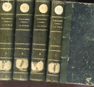 LA BIBLE ET LES DECOUVERTES MODERNES - EN 4 VOLUMES (TOMES 1 + 2 + 3  + 4) / En Palestine , en Egypte et en Assyrie / 3eme EDITION.