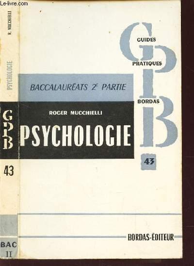 PSYCHOLOGIE  - BACCALAUREAT 2e PARTIE / N°43 DE
