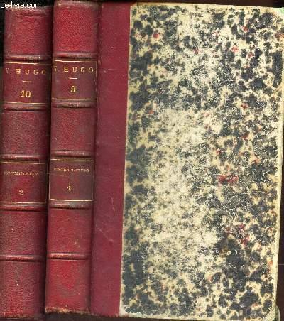 LES CONTEMPLATIONS - EN 2 VOLUMES (TOMES 1et 2). / Tome I: Autrefois, 1830-1843. Tome II: Aujourd'hui, 1843-1856