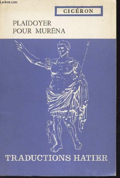 PLAIDOYER POUR MURENA -  TRADUIT PAR A. BOURGERY.