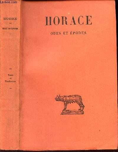 ODES ET EPODES  -TOME I  / texte etabli et traduit par F. VILLENEUVE.