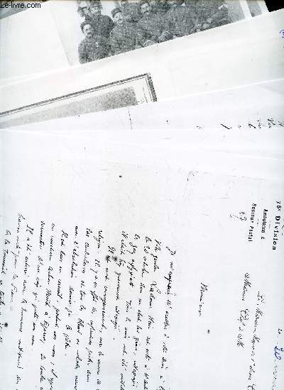 LOT DE DOCUMENTS SUR : CAPORAL PIERRE HENRI LADONNE (en Famille Rné) (photocopies de documents et lettres).