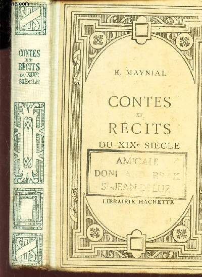 CONTES ET RECITS DU XIXE SIECLE.
