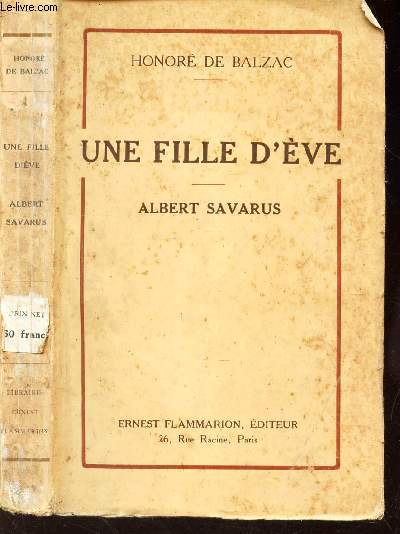 UNE FILLE D'EVE - ALBERT SAVARUS