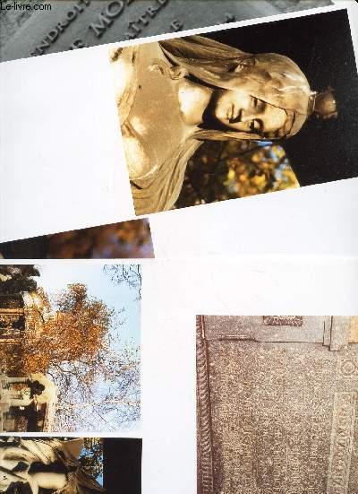 3 PLANCHES PHOTOS de : Monument fait par le Statuaire Daniel Campagne (Cimetiere du Pere Lachaise) + Jacques de Molay (Square du Fer Galant - Ile de la Cité (1er).