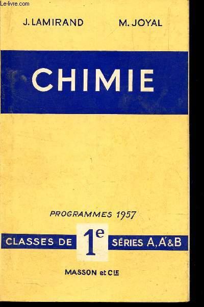 PHYSIQUE - Classes de 1e series A, A' & B / Programmes 1957.
