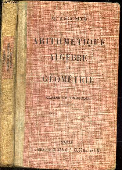 ARITHMETIQUE ALGEBRE et GEOMETRIE - CLASSE DE TROISIEME