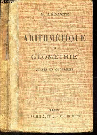 ARITHMETIQUE ALGEBRE et GEOMETRIE - CLASSE DE QUATRIEME