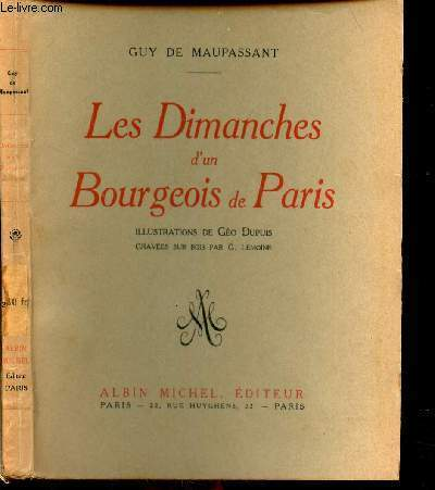 LES DIMANCHES D'UN BOURGEOIS DE PARIS.