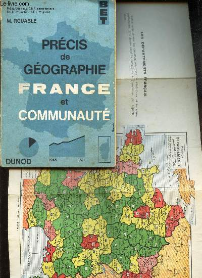 PRECIS DE GEOGRAPHIE FRANCE et COMMUNAUTE. / Biblioteque de l'Enseigement TEchnique.