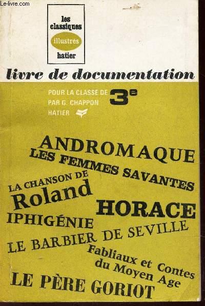 LIVRE DE DOCUMENTATION - POUR LA CLASSE DE 3e.