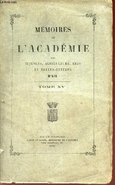 TOME XV  DE
