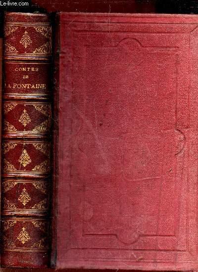 CONTES DE LA FONTAINE - Édition illustrée de 180 vignette dans le texte par Tony Johannot, C. Boulanger, Roqueplan, Fragonard Père, etc. et de nouveau dessins hors-texte par Staal.