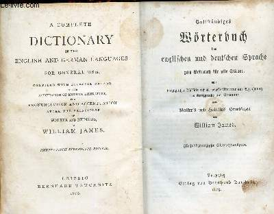 A DICTIONARY OF THE ENGLISH AND GERMAN LANGUAGES FOR GENERAL USE.