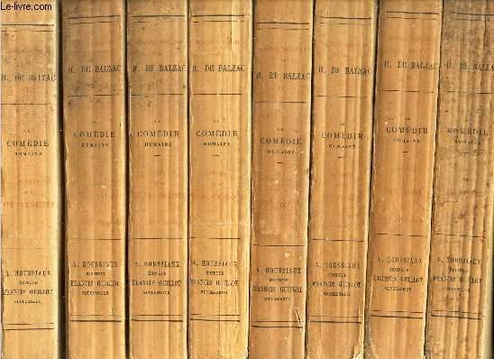 OEUVRES COMPLETES DE H. DE BALZAC - EN 19 VOLUMES (VOIR DETAIL). MANQUE LE TOME XX.