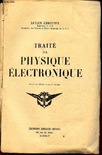 TRAITE DE PHYSIQUE ELECTRONIQUE