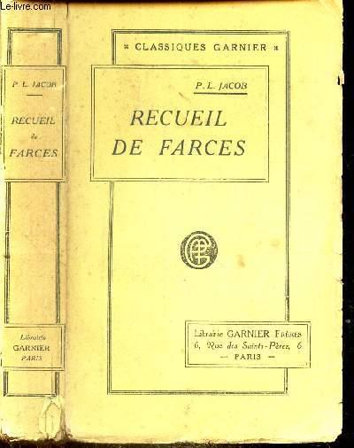 RECUEIL DE FARCES - SOTIES ET MORALITES.
