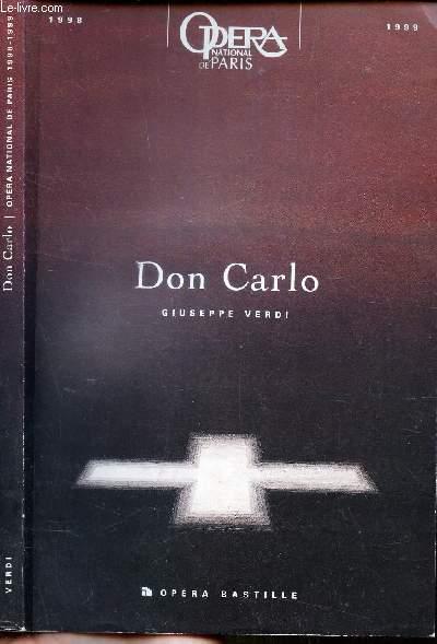 DON CARLO - OPERA EN QUATRE ACTES
