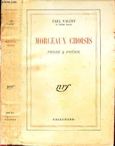 MORCEAUX CHOISIS - PROSES & POESIES