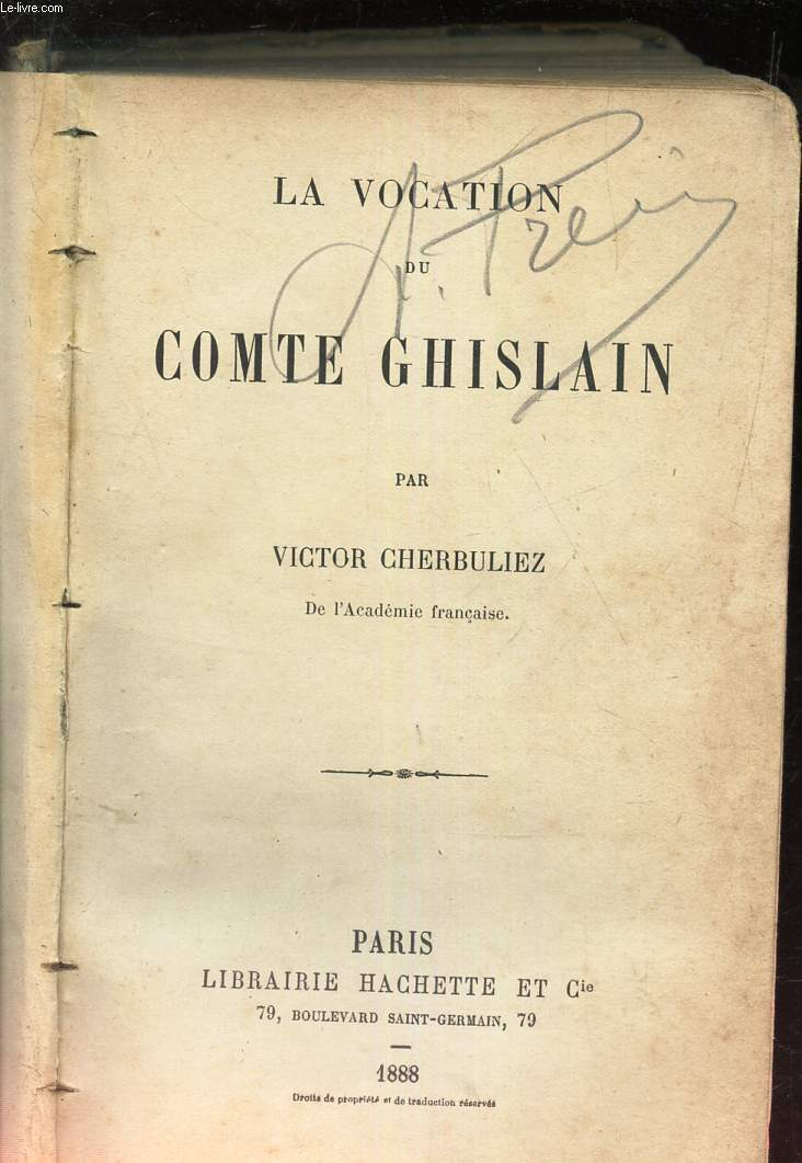 LA VOCATION DE COMTE GHISLAIN