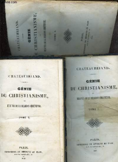 GENIE DU CHRISTIANISME ou BEAUTES DE LA RELIGION CHRETIENNE -  - EN 3 VOLUMES : TOMES 1 + 2 + 3.
