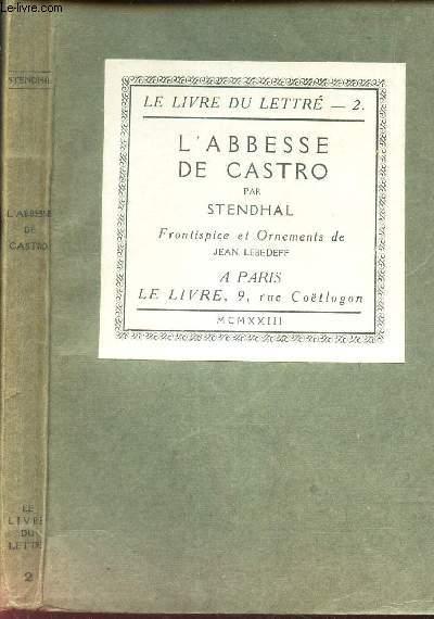 L'ABBESSE DE CASTRO - CHRONIQUE ITALIENNE