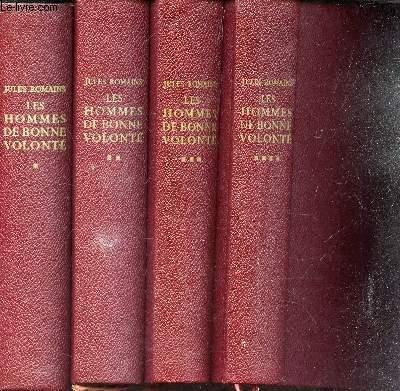 LES HOMMES DE BONNE VOLONTE   /  4 VOLUMES : TOME 1 + TOME 2 + TOME 3 + TOME 4