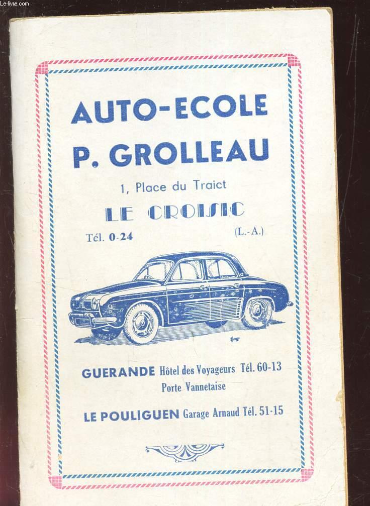 AUTO ECOLE : CODE DE LA ROUTE
