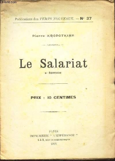 LE SALARIAT / N°37 DES PUBLICATIONS DES