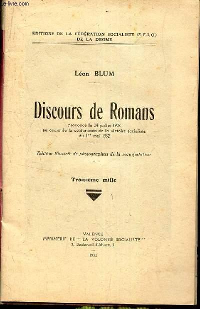 DISCOURS DE ROMANS - prononvé le 24 juillet 132.